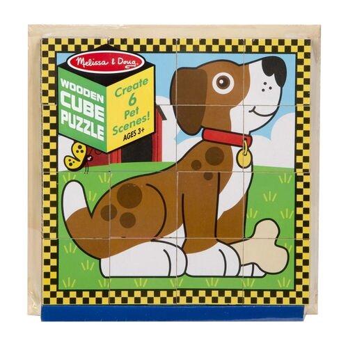 Кубики-пазлы Melissa & Doug Pets Cube Puzzle пазлы melissa