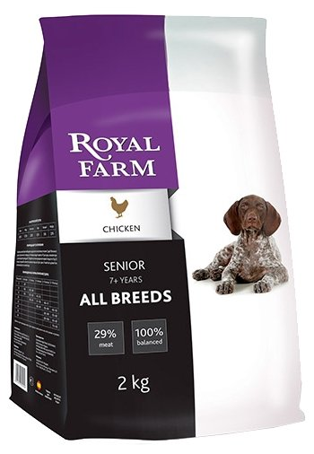 Royal Farm (12 кг) Сухой корм для собак Senior Chicken