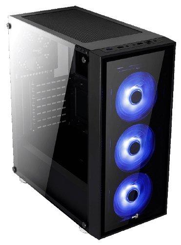 Компьютерный корпус AeroCool Quartz Black/blue