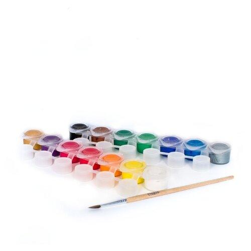 цена на Crayola Темперные краски 14 цветов, с кистью (3978)