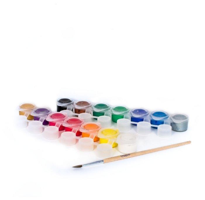 Crayola Темперные краски 14 цветов, с кистью (3978)