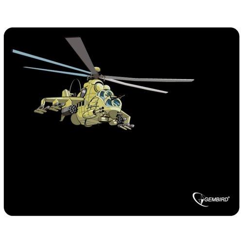 Коврик Gembird MP-GAME9 черный/вертолет