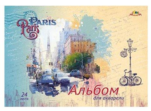 Альбом для акварели Апплика Париж 42 х 29.7 см (A3), 180 г/м², 24 л.