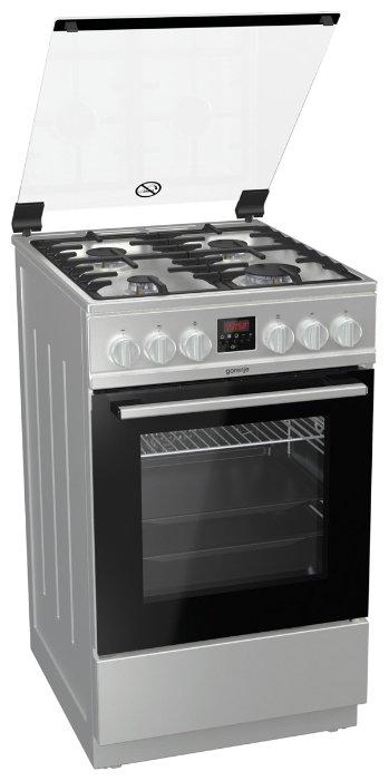 Газовая плита GEFEST ПГЭ 5102-03, электрическая духовка, металлическая крышка, белый
