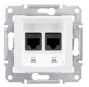 Розетка для интернета / телефона Schneider Electric SEDNA SDN4400121 , белый