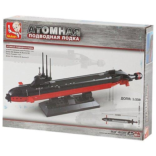 Купить Конструктор SLUBAN Военно-морская серия M38-B0391 Атомная подводная лодка, Конструкторы