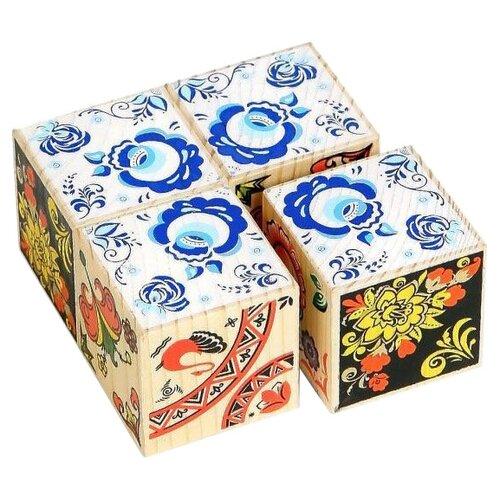 Кубики-пазлы Томик Русские узоры 3333-8 томик кубики алфавит с цифрами