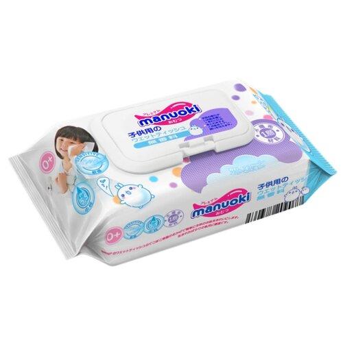 Купить Влажные салфетки Manuoki Детские 80 шт.