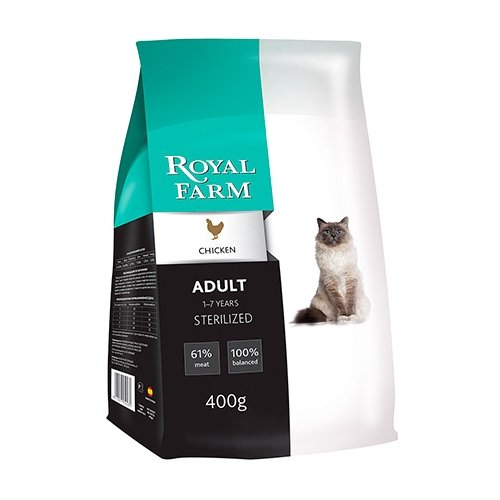 корм для кошек wildcat cheetah Корм для кошек Royal Farm (2 кг) Сухой корм для кошек Adult Sterilized Chicken