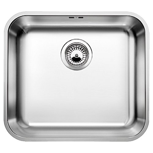 Фото - Врезная кухонная мойка 48 см Blanco Supra 450-U с клапаном-автоматом нержавеющая сталь полированная кухонная мойка blanco supra 450 u 518203
