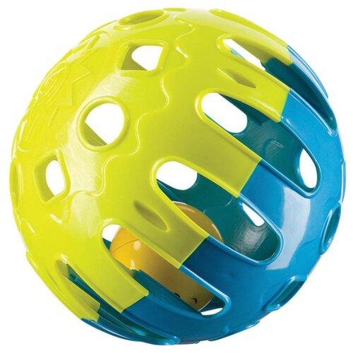 цена на Погремушка Happy Baby Jingle Ball желтый/синий