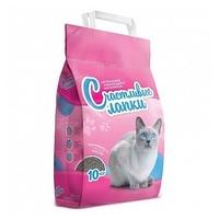 Наполнитель Чистые лапки Комкующийся розовый (10 кг)