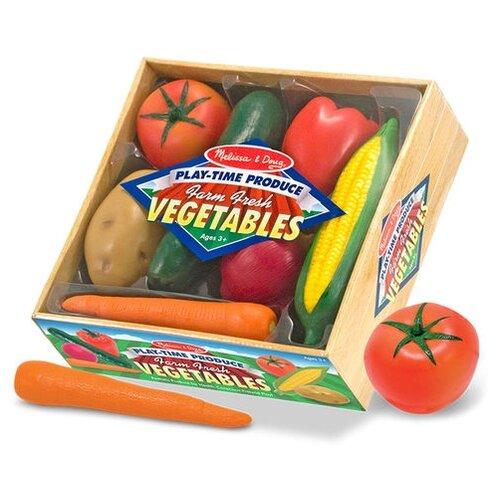 Купить Набор продуктов Melissa & Doug Vegetables 4083 разноцветный, Игрушечная еда и посуда