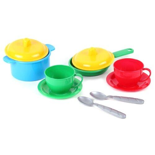 Фото - Набор посуды ТехноК Маринка-3 0700 красный/зеленый/желтый набор посуды тигрес ромашка 39121 красный желтый зеленый синий