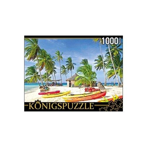 Пазл Рыжий кот Konigspuzzle Лодки на острове (КБК1000-6457), 1000 дет.