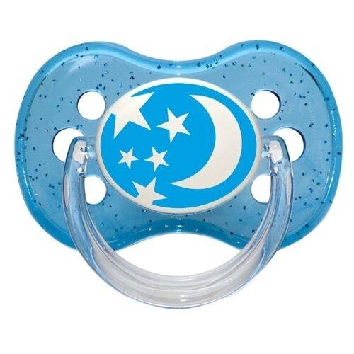 Купить Пустышка силиконовая классическая Canpol Babies Nature 0-6 м (1 шт) голубой, Пустышки и аксессуары