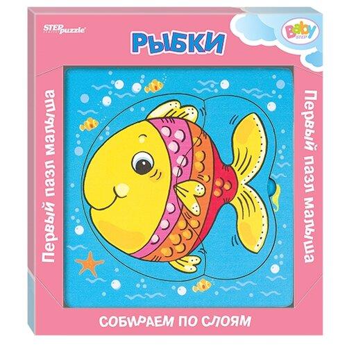 Фото - Рамка-вкладыш Step puzzle Baby Step Рыбки (89062), 6 дет. рамка вкладыш step puzzle baby step мышонок 89069 7 дет