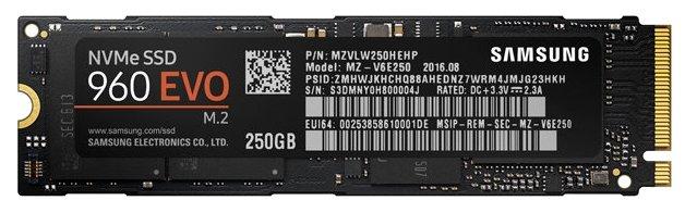 Твердотельный накопитель Samsung MZ-V6E250BW