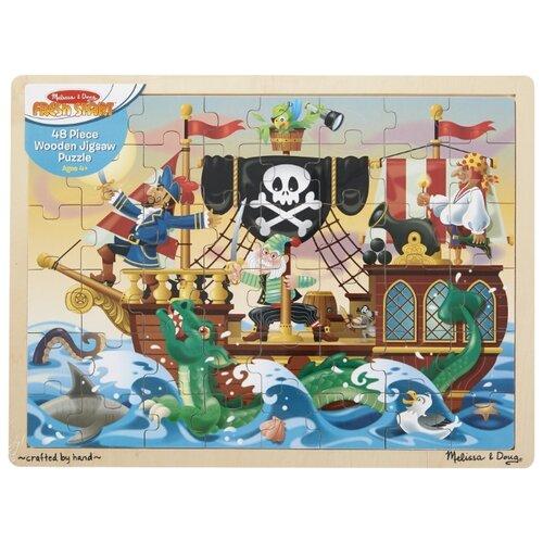 Купить Пазл Melissa & Doug Приключения пиратов (3800), 48 дет., Пазлы