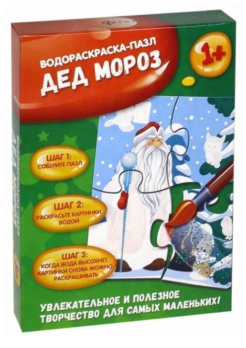 Пазл Феникс Водораскраска Дед Мороз, 4 дет.