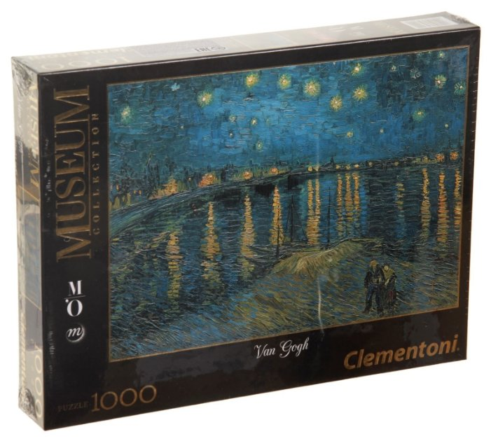 Пазл Clementoni Museum Collection Ван Гог. Звездная ночь над Роной (39344), 1000 дет.