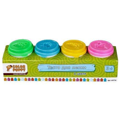 Масса для лепки Color Puppy 4 цвета 224 г (63776) масса для лепки dido кекс 6 цветов по 50 г 399100