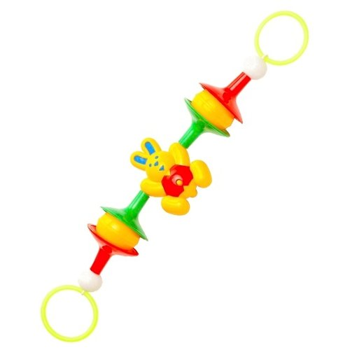 Купить Растяжка Аэлита Зайка-гимнаст (2С387) желтый/зеленый/красный, Подвески