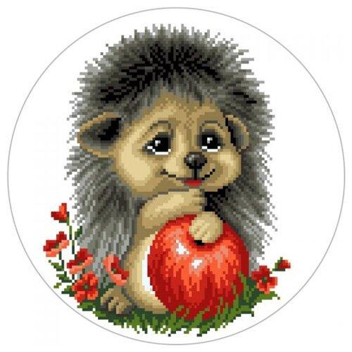 Купить Цветной Вышивка крестом Ежик с яблоком 21 х 21 см (VC016), Наборы для вышивания