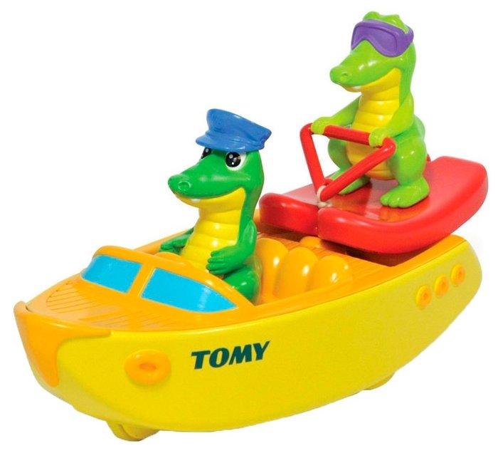 Игрушка для ванной Tomy Крокодил на водных лыжах (TO72358)