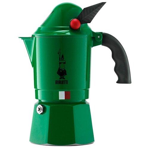 Фото - Гейзерная кофеварка Bialetti Break Alpina (3 порции), зеленый гейзерная кофеварка bialetti aeternum divina 4 порции металлик