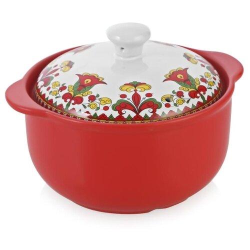 Кастрюля Appetite Narino Карусель 3,5 л, красный/белый кастрюля appetite карусель 4 л белый красный
