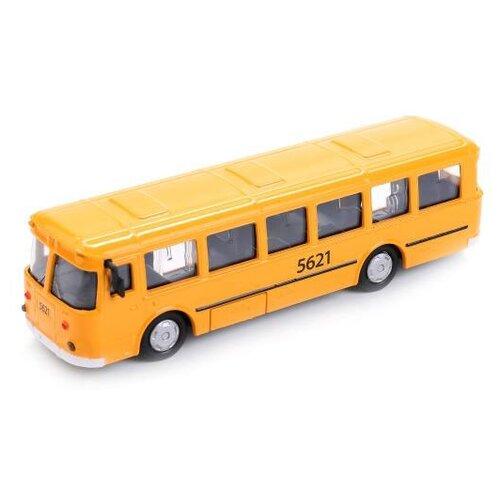 Автобус ТЕХНОПАРК городской (SB-16-57WB) 15 см желтый, Машинки и техника  - купить со скидкой