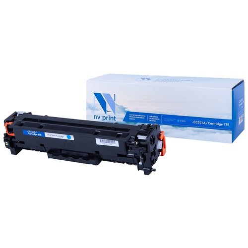 Фото - Картридж NV Print CC531A/718 Cyan для HP и Canon, совместимый картридж nv print cf380x для hp