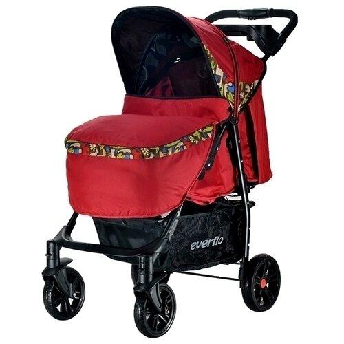 Прогулочная коляска everflo E-230 Safari Luxe красныйКоляски<br>