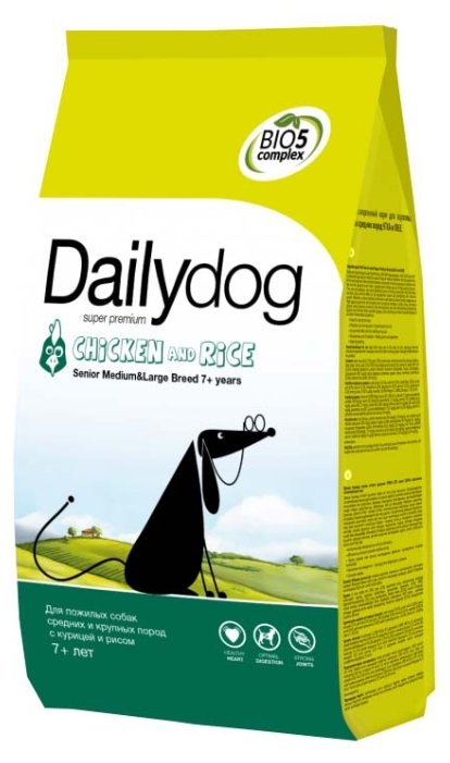 Корм для собак Dailydog Senior Medium Large Breed Chicken and Rice
