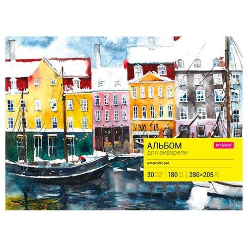 Альбом для акварели ArtSpace 28 х 20.5 см, 180 г/м?, 30 л.Альбомы для рисования<br>