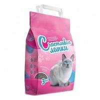 Наполнитель Чистые лапки Комкующийся розовый ( 3 кг)