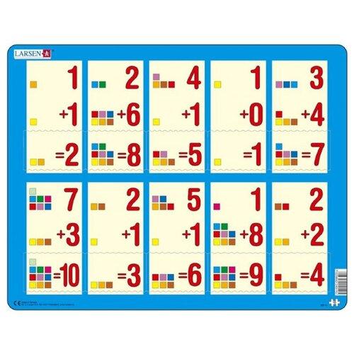Купить Рамка-вкладыш Larsen Математика Сложение 1-10а (AR11), 10 дет., Пазлы