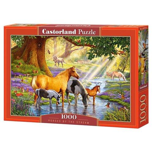 Купить Пазл Castorland Horses by the Stream (C-103737), элементов: 1000 шт., Пазлы
