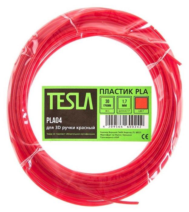 PLA пруток TESLA 1.70 мм красный