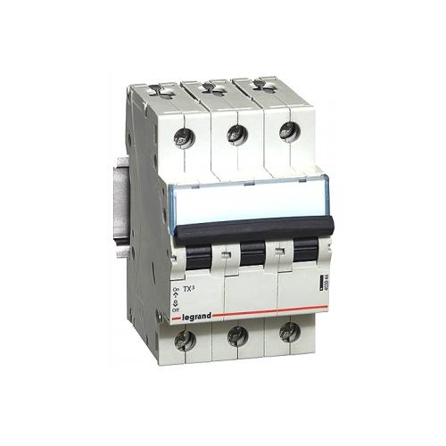 Автоматический выключатель Legrand TX3 3P (C) 6kA 50 А выключатель автоматический курскэаз ва51 35м1 340010 100а 690ac ухл3 108310 146749