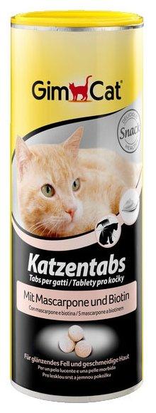 Добавка в корм GimCat Katzentabs с маскарпоне и биотином,