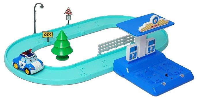 Трек Silverlit Robocar Poli Набор маленький трек с умной машинкой Поли