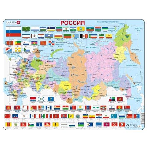 Купить Рамка-вкладыш Larsen Россия (K55), 70 дет., Пазлы