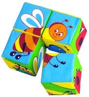 Кубики-пазлы Мякиши Собери картинку Насекомые