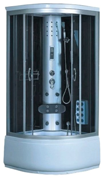 Душевая кабина Saniteco SN-S3-90QB высокий поддон 90см*90см