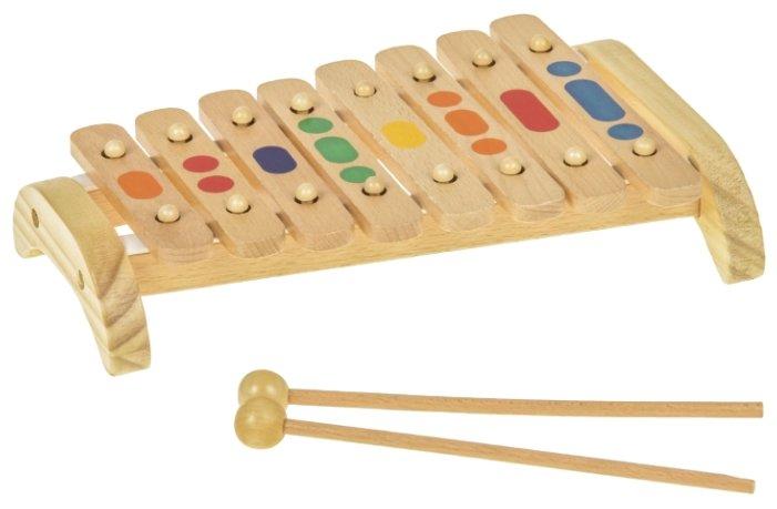 Игрушки из дерева ксилофон Д045 8 тонов (деревянный)