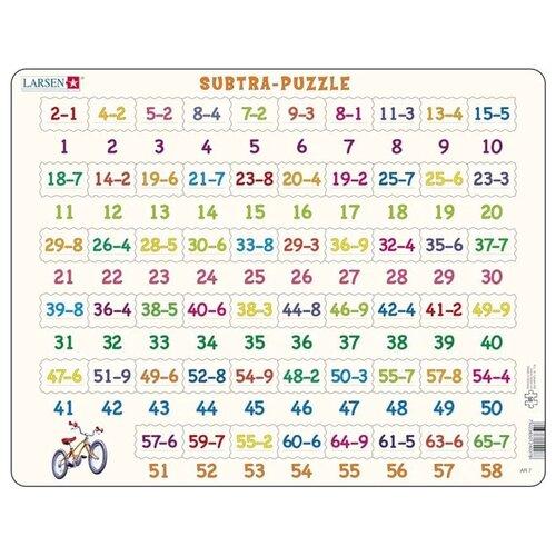 Купить Рамка-вкладыш Larsen Математика Вычитание (AR7), 58 дет., Пазлы