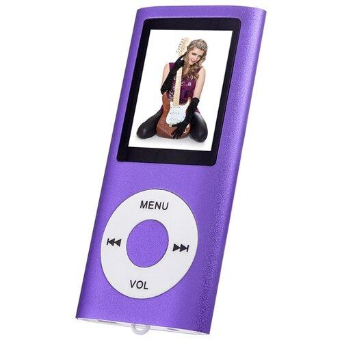 Плеер Perfeo Music I-Sonic фиолетовый плеер perfeo vi m001 music clip titanium purple