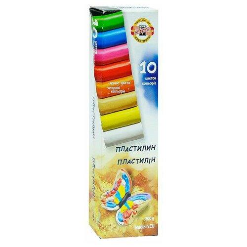 Купить Пластилин KOH-I-NOOR Бабочка 10 цветов (131710), Пластилин и масса для лепки